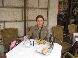 Enjoying lunch in Rome - April 2012