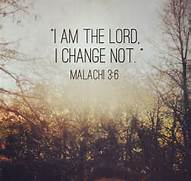 God doesn't change