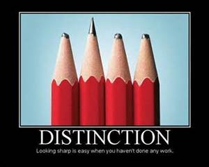 Distinction - pencils